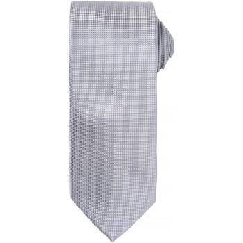 Kleidung Herren Krawatte und Accessoires Premier Waffle Silber