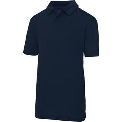 Kleidung Kinder Polohemden Awdis JC40J Marineblau