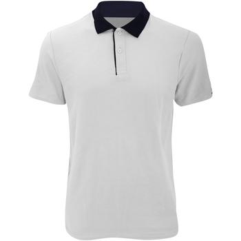 Kleidung Herren Polohemden Anvil 6280 Weiß/Marineblau