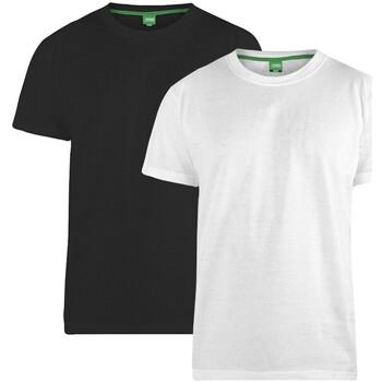 Kleidung Herren T-Shirts Duke  Schwarz/Weiß