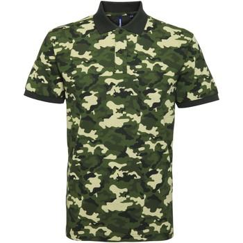 Kleidung Herren Polohemden Asquith & Fox AQ018 Camo Grün