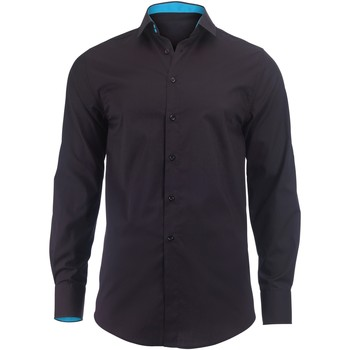 Kleidung Herren Langärmelige Hemden Alexandra Hospitality Schwarz/Pfau