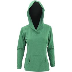 Kleidung Damen Sweatshirts Anvil 72500L Grün meliert