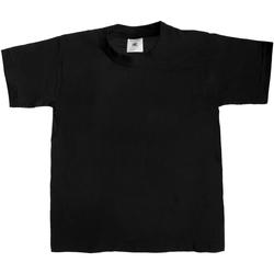 Kleidung Kinder T-Shirts B And C Exact 190 Schwarz