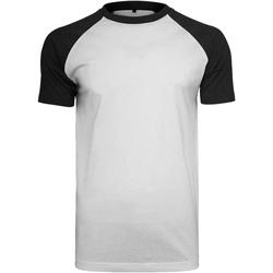 Kleidung Herren T-Shirts Build Your Brand BY007 Weiß/Schwarz