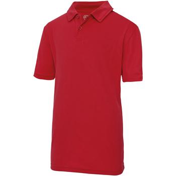 Kleidung Kinder Polohemden Awdis JC40J Feuerrot