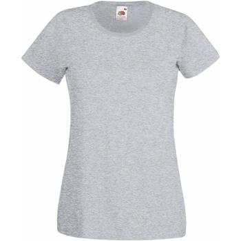 Kleidung Damen T-Shirts Fruit Of The Loom 61372 Grau meliert