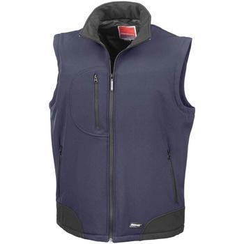 Kleidung Herren Strickjacken Result R123X Marineblau/Schwarz