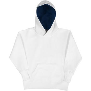 Kleidung Kinder Sweatshirts Sg SG24K Weiß/Marineblau
