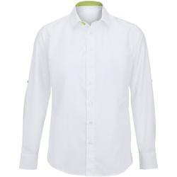 Kleidung Herren Langärmelige Hemden Alexandra Hospitality Weiß/Lime
