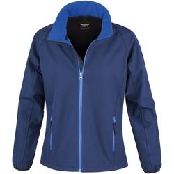 Kleidung Damen Fleecepullover Result R231F Marineblau/Königsblau