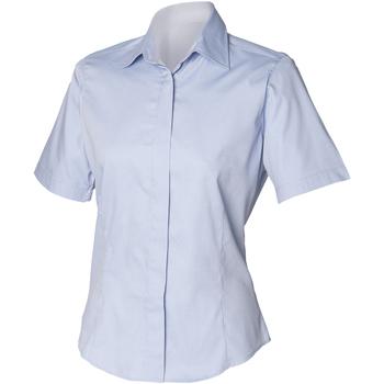 Kleidung Herren Kurzärmelige Hemden Henbury HB556 Hellblau