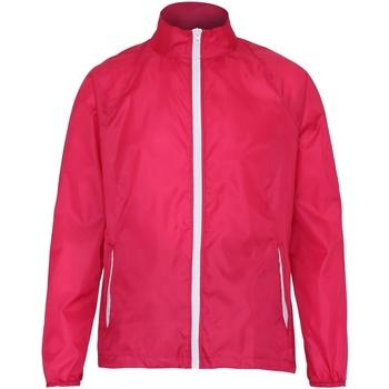 Kleidung Herren Windjacken 2786  Hot Pink/Weiß