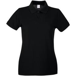 Kleidung Damen Polohemden Universal Textiles 63030 Schwarz