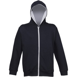 Kleidung Kinder Sweatshirts Awdis JH53J Marineblau/Heather Grau
