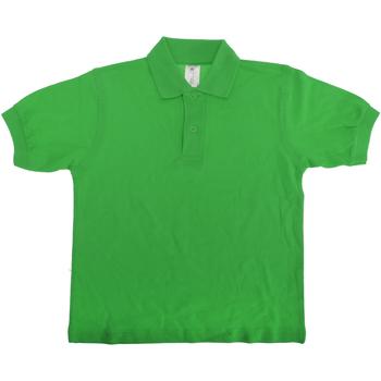 Kleidung Kinder Polohemden B And C PK486 Grün
