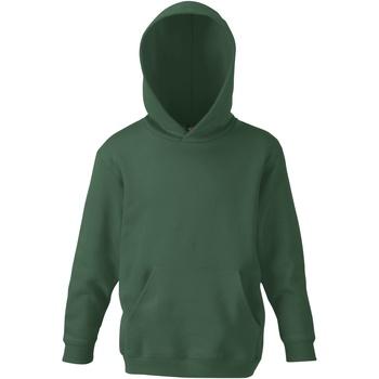 Kleidung Kinder Sweatshirts Fruit Of The Loom SS273 Flaschengrün