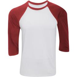 Kleidung Herren Langarmshirts Bella + Canvas CA3200 Weiß/Rot