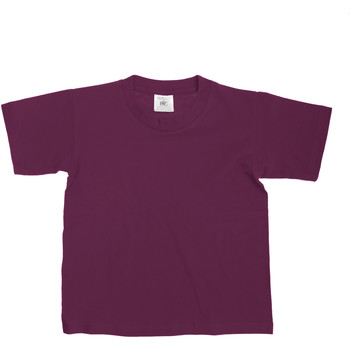 Kleidung Kinder T-Shirts B And C TK300 Burgunder