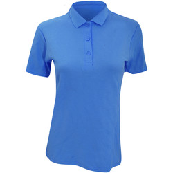 Kleidung Damen Polohemden Anvil 6280L Blau