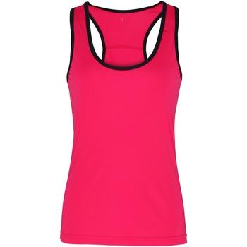 Kleidung Damen Tops Tridri TR023 Hot Pink/Schwarz