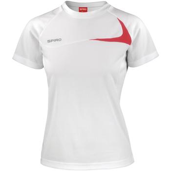 Kleidung Damen T-Shirts Spiro S182F Weiß/Rot