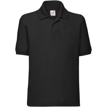 Kleidung Jungen Polohemden Fruit Of The Loom 63417 Schwarz