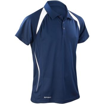 Kleidung Herren Polohemden Spiro S177M Marineblau/Weiß