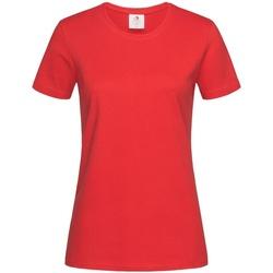 Kleidung Damen T-Shirts Stedman Comfort Scharlachrot