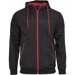 Kleidung Herren Jacken Build Your Brand Wind Runner Schwarz/Rot