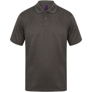 Kleidung Herren Polohemden Henbury HB475 Heather Graphit