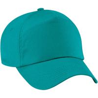 Accessoires Kinder Schirmmütze Beechfield B10B Smaragd