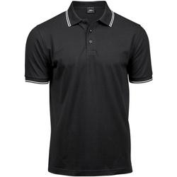 Kleidung Herren Polohemden Tee Jays TJ1407 Schwarz/Weiß