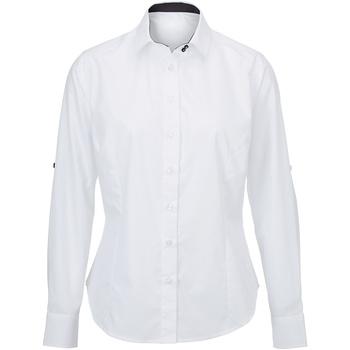 Kleidung Damen Hemden Alexandra AX060 Weiß/Schwarz