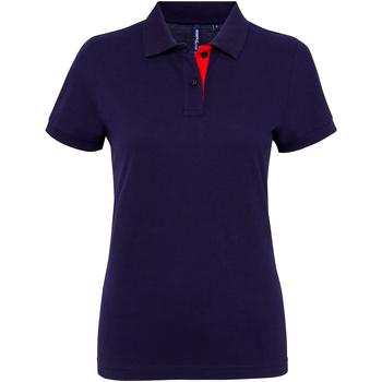 Kleidung Damen Polohemden Asquith & Fox Contrast Marineblau/Rot
