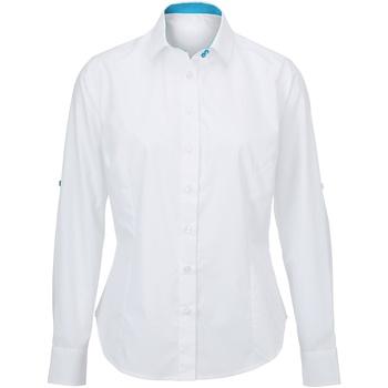 Kleidung Damen Hemden Alexandra AX060 Weiß/Blau