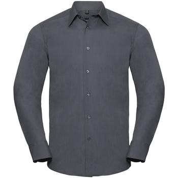 Kleidung Herren Langärmelige Hemden Russell 924M Grau