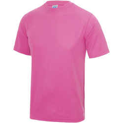 Kleidung Kinder T-Shirts Awdis JC01J Leuchtpink