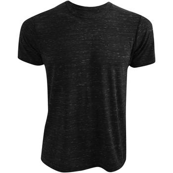Kleidung T-Shirts Bella + Canvas CA3650 Schwarz meliert