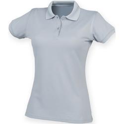 Kleidung Damen Polohemden Henbury Coolplus Silber Grau