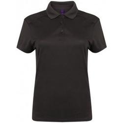 Kleidung Damen Polohemden Henbury HB461 Dunkelgrau