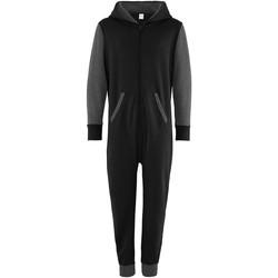 Kleidung Kinder Overalls / Latzhosen Comfy Co CC03J Schwarz / Graphit