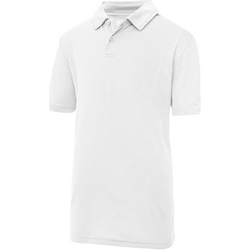 Kleidung Kinder Polohemden Awdis JC40J Schneeweiß