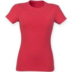 Kleidung Damen T-Shirts Skinni Fit SK161 Rot Triblend