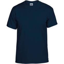Kleidung Herren T-Shirts Gildan DryBlend Marineblau