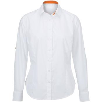 Kleidung Damen Hemden Alexandra AX060 Weiß/Orange