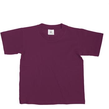 Kleidung Kinder T-Shirts B And C Exact Burgunder