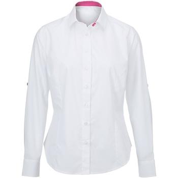 Kleidung Damen Hemden Alexandra AX060 Weiß/PInk
