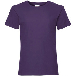 Kleidung Mädchen T-Shirts Fruit Of The Loom 61005 Lila