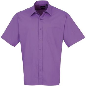 Kleidung Herren Kurzärmelige Hemden Premier PR202 Dunkles Violett